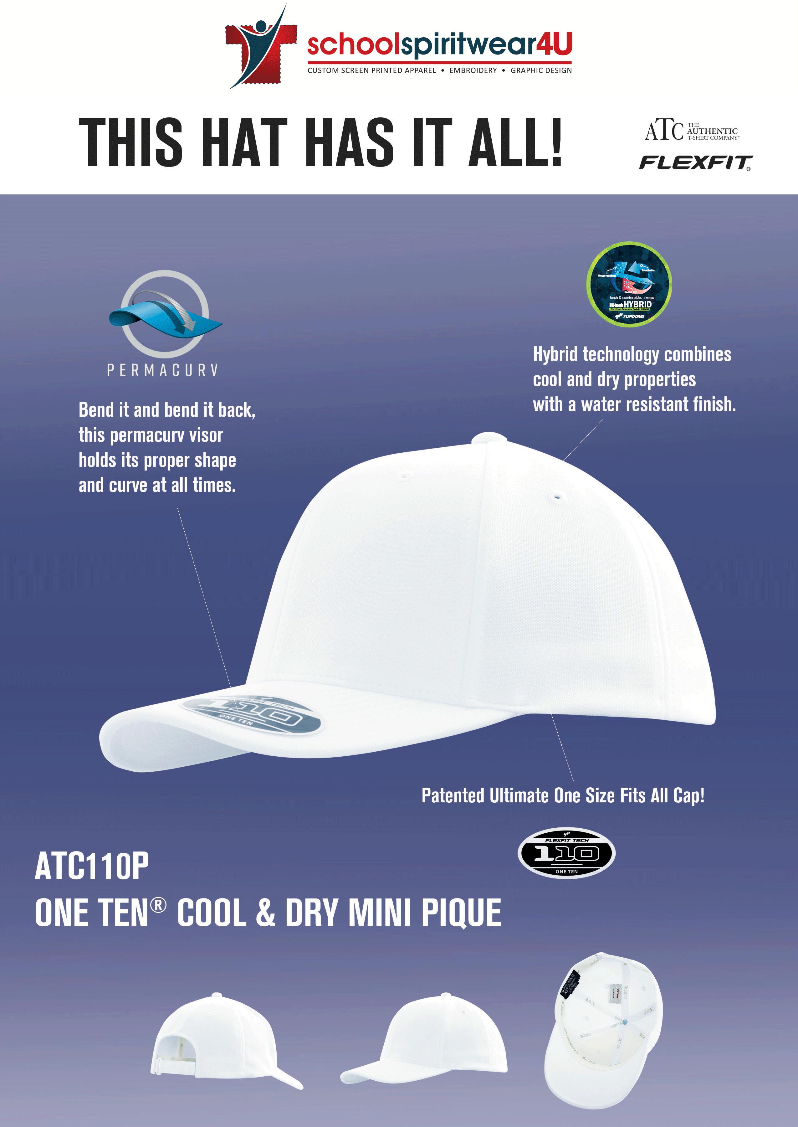 School Spirit Wear - screen printed ball caps - embroder logo on ball cap
