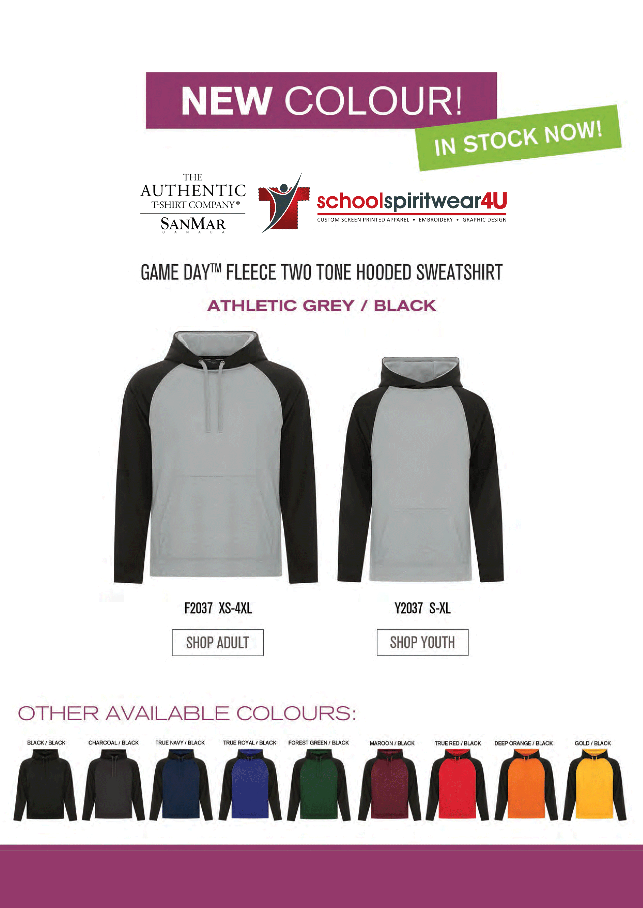 School Spirit Wear - screen printed clothing for your school