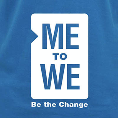 School Spirit Wear 4U - featured design logo - Me to We tshirt