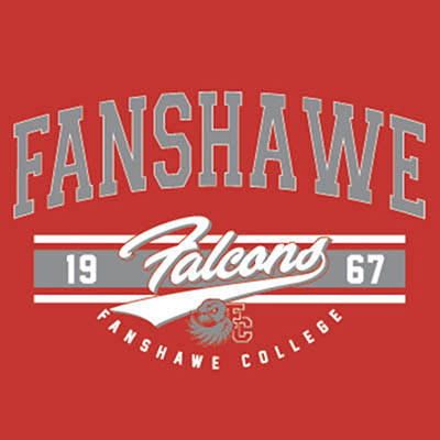School Spirit Wear 4U - featured design logo - Fanshawe Falcons - Fanshawe College