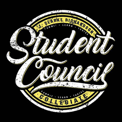 School Spirit Wear 4U - featured design logo - J Clarke Richardson Collegiate - Student Council tshirt