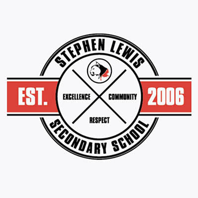 School Spirit Wear 4U - featured design logo - teaching is a work of heart - stephen lewis secondary school - varsity tshirt