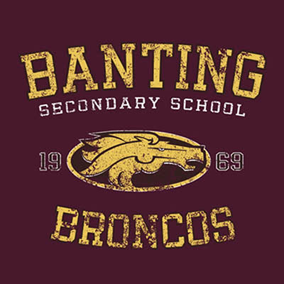 School Spirit Wear 4U - featured design logo - Banting Broncos - Banting High School
